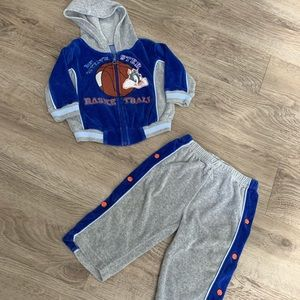 Other - Vintage Looney Tunes Terry Cloth Boys Sweatsuit